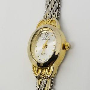 Vintage Vanity Fair Quartz Watch TT SS w/Diamond